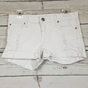STS BLUE juniors white denim distressed shorts 11